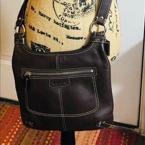 Coach crossbody purse in dark brown